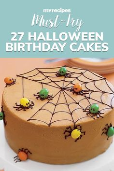 Whether you were born on the spookiest day of the year or you're just obsessed with Halloween, we've got 27 spooky Halloween birthday cakes that are perfect for the occasion. Featuring favorite fall flavors like pumpkin, warm spices, candy, chocolate, and a little bit of Halloween fright, these cakes make for a scrumptious celebratory centerpieces#halloween #halloweenrecipes #myrecipes Halloween Birthday Cakes, My Recipes, Cooking Recipes, Spooky Halloween, How To Make Cake, Spices, Pumpkin, Scary Halloween, Spice