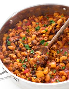 Mexican Pasta, Mexican Dishes, Mexican Recipes, One Pot Meals, Easy Meals, Lentil Casserole, One Pan Pasta, Lentil Pasta, Food And Thought