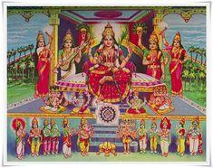Lalita Devi in Sri Pura. Lalita Devi resides in Chinamani Gruha in Sri Pura.     'Chintamani Gruanthastha Sriman Nagara Nayika' Lalitha Sahasranama.     Description of Sri Pura is narrated in the Lalitapokyana.