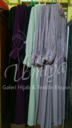 Gamis2 Made hy Order, bahan Paradiso emboss lily flower