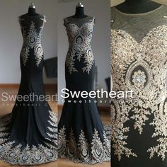 Round Neckline Black Chiffon Long Prom Dresses, Evening Dresses #prom #promdress #dress #longpromdress