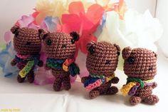 Cute amigurumi bears