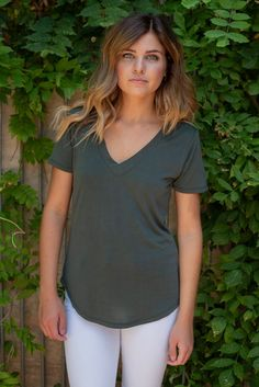 715b7162 The Modal Tee-Rosin available at J. Lilly's Boutique or jlillysboutique.com