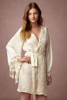 BHLDN Suri Kimono Robe in  Bride Bridal Lingerie at BHLDN