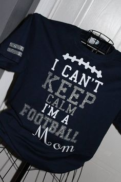 Keep calm Football Mom by Sprinkledotsvinyl on Etsy