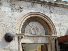 Fourth Station of the Cross: Jesus meets his mother. Via Dolorosa