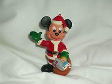 Walt Disney Co. MICKEY MOUSE Hard Plastic Christmas Ornament