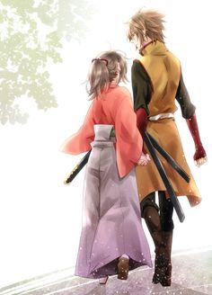 Yukimura Chizuru & Okita Souji | Hakuouki Shinsengumi Kitan #otomegame #anime