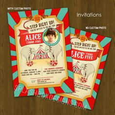 Circus Birthday Party Package DIY · Splashbox Printables · Online Store Powered by Storenvy