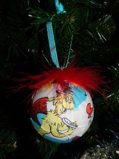 Items similar to Paper Mache Dr. Seuss Book Print Ornament Green Eggs and Ham on Etsy