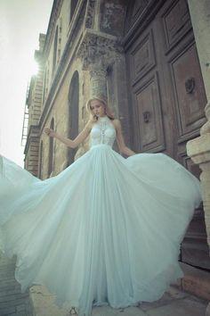 Fashion wedding gown.