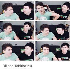 O.O... Dan is wearing tabithas shirt... Proof he is bottom
