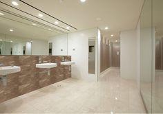 Light clean bathrooms