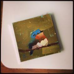 #bluebird with some snow today #art #oilpainting #prattcreekart #birdpainting #angelamoulton #painting