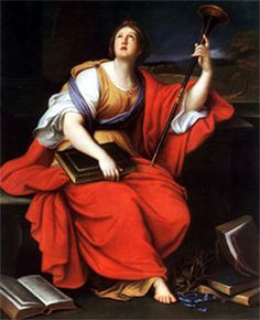 Clio' a character in Greek mythology. She was the muse of history. By Pierre Mignard