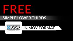 Free Simple Lower Third Templates in mov Format