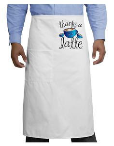TooLoud Thanks a Latte - Cute Mug Adult Bistro Apron