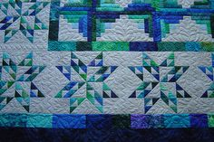 Star Log Cabin by Jessica's Quilting Studio, via Flickr