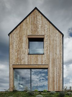 The tall gabled form of this house in the Czech countryside is based on archetypal local barns