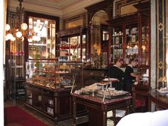 Demel Cafe. Coffee, Confections and Bakery, since 1786. Vienna, Austria.