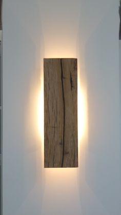 Wall lamp, Wood: Oak