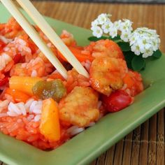 Sweet and Sour Pineapple Chicken- Easy, only about twenty minutes to make. And oh so yummy....