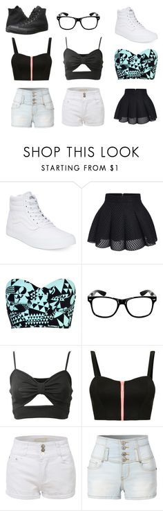 """""""Style"""" by rmickle on Polyvore featuring Vans, River Island, TALLY WEiJL, LE3NO and Converse"""
