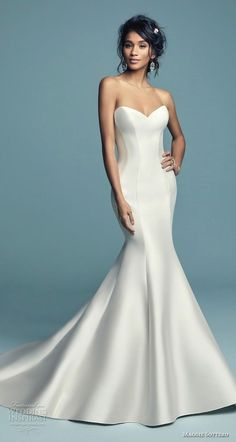Simple wedding dress. Leave out the groom, for the present time let us focus on the bride-to-be who thinks about the wedding as the very best day of her life. With this basic fact, then it's definite that the wedding garment should be the best. #weddingdress