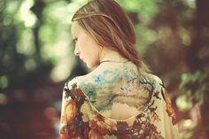 Gorgeous landscape tattoo.