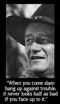 Here's what the Duke has to say for #WayneWisdomWednesday!