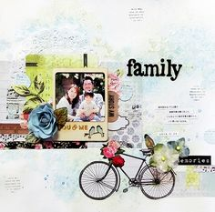 family  *My Creative Scrapbook Limited edition Kit June 2014 Limited edition Kaisercraft-Kaleidoscope Yuko Tanaka