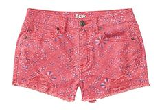 Aeropostale Women's Tokyo Darling High-Waisted Mosaic Destroyed Shorty Shorts 00