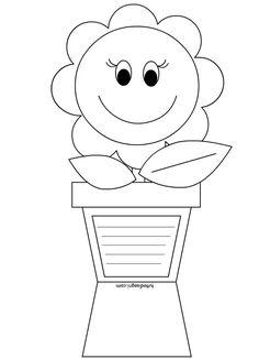 Vaso con fiore - Biglietto Festa della Mamma