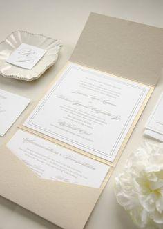 Letterpress Invitations | Kimberly FitzSimons | See more on Style Me Pretty http://www.StyleMePretty.com/little-black-book-blog/2014/02/12/elegant-timeless-letterpress-wedding-invitation/