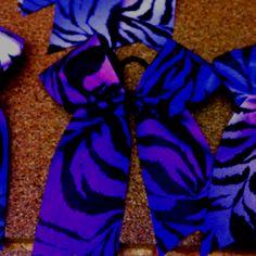 Purple zebra bow