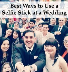 If your guests are going to bring selfie sticks to your wedding, make sure you share with them how to use them properly and respectfully!