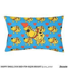 HAPPY SMALL DOG BED-FUN-AQUA BRIGHT DOG BED