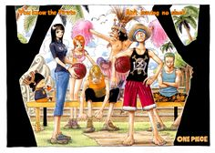 One Piece Color Spread : Chapter 293 - You know the pirate ain't leaving no slack. (Chopper has a Zoro-esque bandana and I love it. They look so serious. And then there's Usopp)