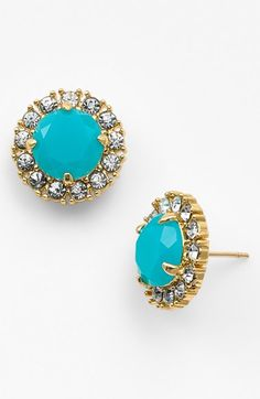 secret garden mixed stone stud earrings / kate spade