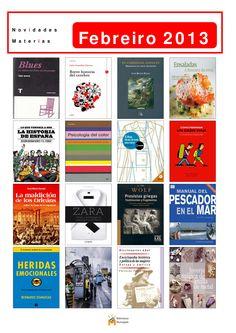 Libros de materias incorporados á colección da Biblioteca Os Rosales en febreiro de 2013.