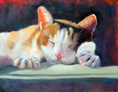 This adorable cat, Russ is a perfect print for any cat lover. This listing is for a large art print of an original oil painting of mine. It is