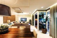 Sala de jantar integrada com a Sala de Estar de Juliana Pippi - 69892 no Viva Decora