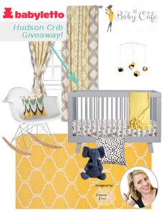 @Mike Playroom's #Babyletto Hudson in Grey. Win now on #BabyCafe! @Elisa Bieg Smith @Tiffany Leigh @Heather Creswell Grahling | Vivid Hue Home