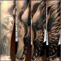 Angel Sleeve Tattoo