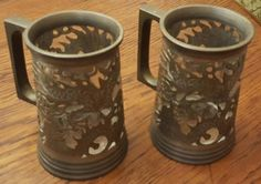 Lonkee Swatow Pewter Dragon Stein with a Glass Insert by CnWsTexasTreasures on Etsy
