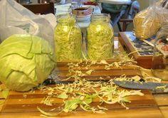 Home-canned sauerkraut.
