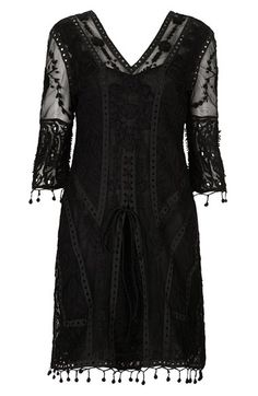 Kate Moss for Topshop Crochet Lace Midi Dress (Nordstrom Exclusive) | Nordstrom