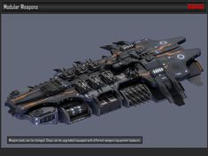 model Modular Spaceship Weapons space spaceship, available in OBJ, MTL, FBX, ready for animation and other projects Space Ship Concept Art, Concept Ships, Spaceship Art, Spaceship Design, Starship Concept, Sci Fi Spaceships, Space Engineers, Space Battles, Sci Fi Models
