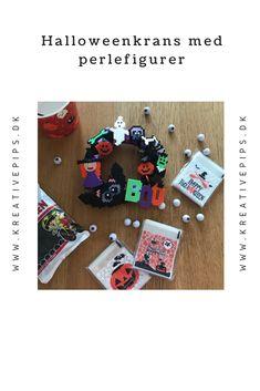 Det er snart halloween, og så skal der pyntes op. I år har jeg lavet denne halloweenkrans med perlefigurer. Diy, Hama, Creative, Bricolage, Diys, Handyman Projects, Do It Yourself, Crafting