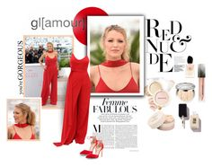 """""""Red & Nude : Blake Lively's style"""" by fashionmadness-3 ❤ liked on Polyvore featuring Innisfree, Chloé, Manolo Blahnik, Christian Dior, Salvatore Ferragamo, Giorgio Armani and Burberry"""